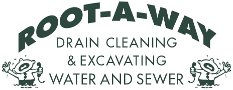 Root-A-Way Drain Cleaning Logo Green